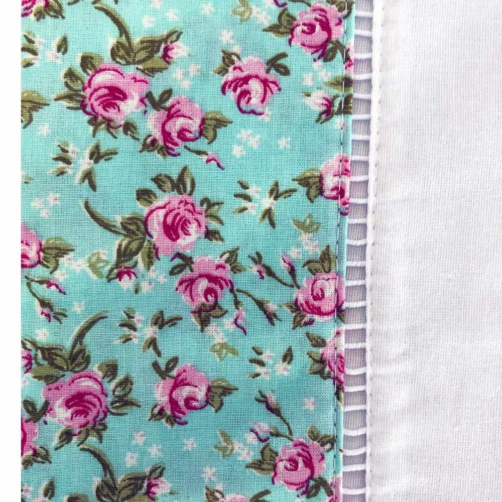 Jogo de Cama Solteiro Percal 150 fios 100% Algodão Ponto Palito 3 peças - Floral Rosa/Branco