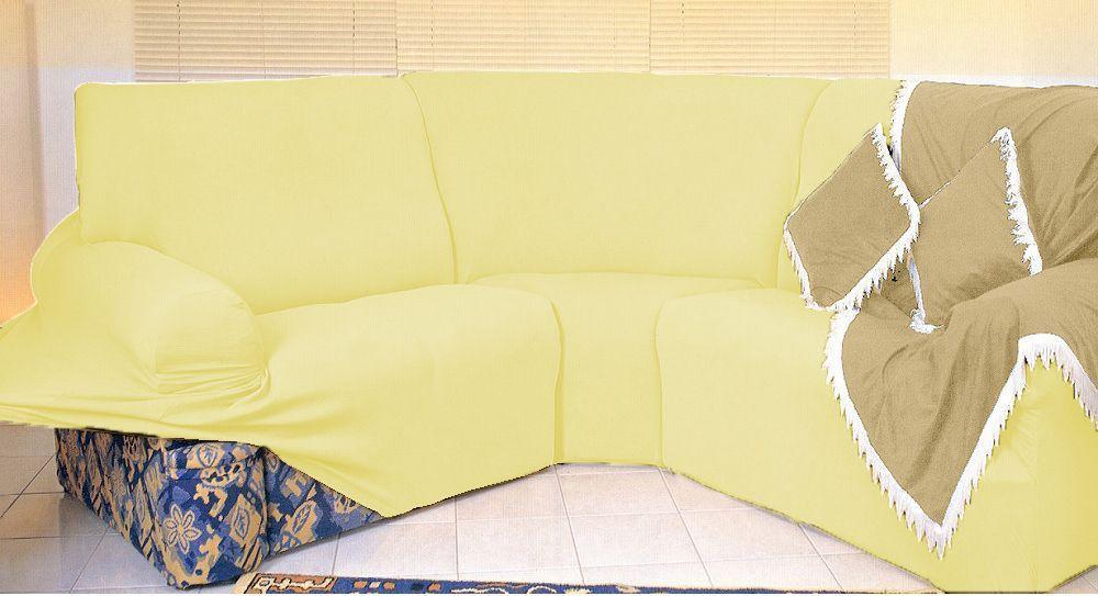 Kit Capa de Sofá de Canto - 2 esquerdo 2 direito - Marfim