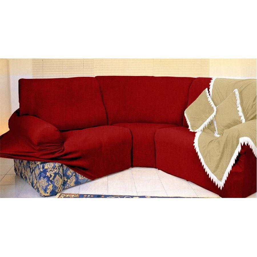 Kit Capa de Sofá de Canto - 2 esquerdo 2 direito - Vermelho