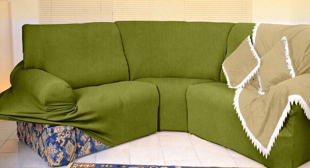 Kit Capa de Sofá de Canto - 2 esquerdo 3 direito - Verde