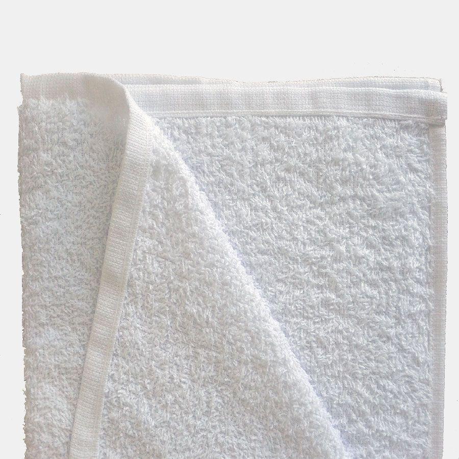 Kit Com 12 toalhas de Rosto para Salão 44 x 80 cm -  Branco