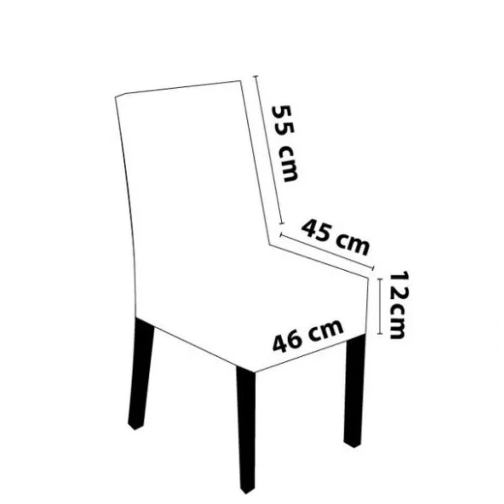 Kit de Capa para Cadeira  4 peças - Cinza
