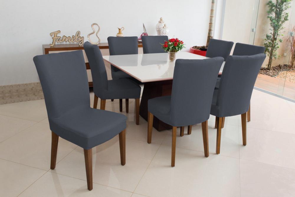 Kit de Capa para Cadeira 6 peças - Cinza