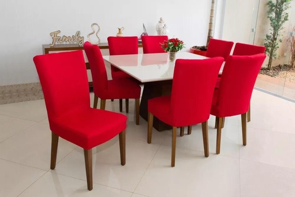 Kit de Capa para Cadeira 6 peças - Vermelho