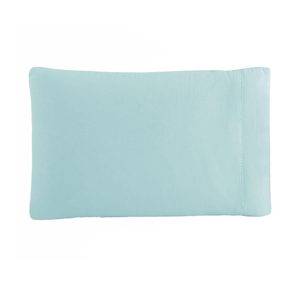 Kit Fronha 50 x 70 cm Percal 150 Fios 100% Algodão Ponto Palito 4 Unidades - Azul