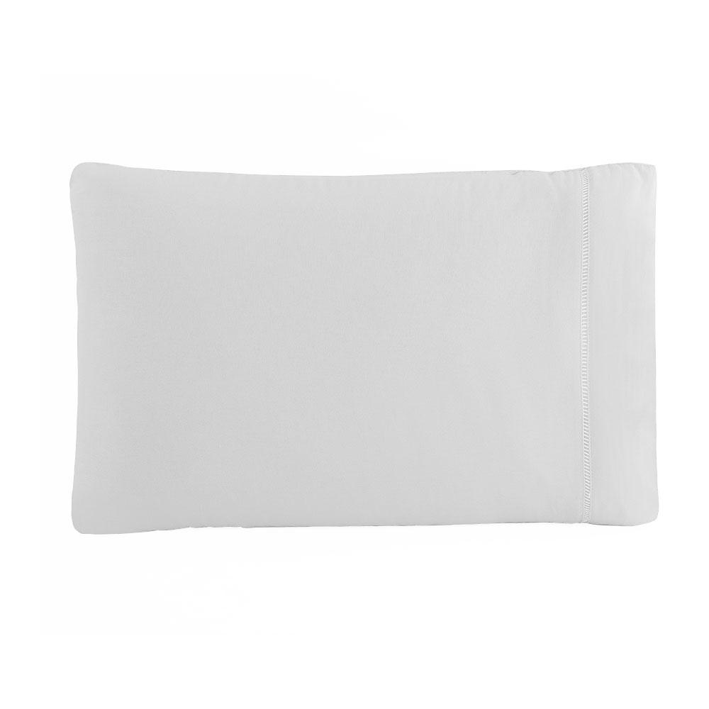 Kit Fronha 50 x 70 cm Percal 150 Fios 100% Algodão Ponto Palito 4 Unidades - Branco