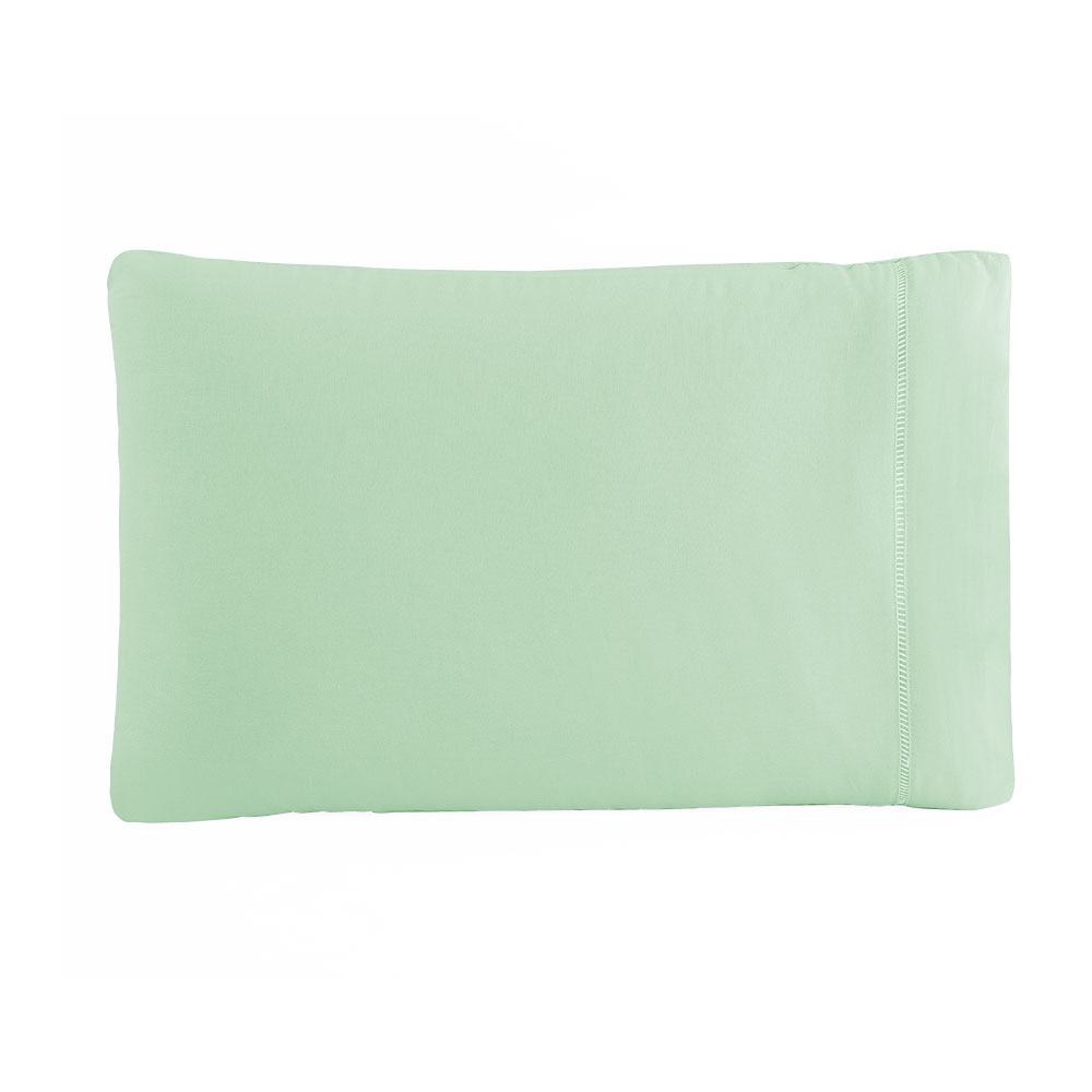 Kit Fronha 50 x 70 cm Percal 150 Fios 100% Algodão Ponto Palito 4 Unidades - Verde