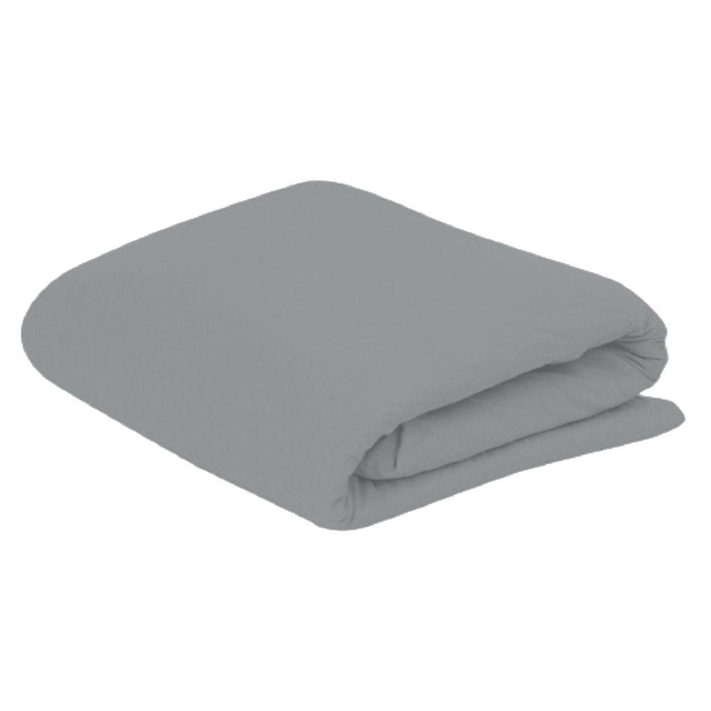 Lençol Casal com Elastico em Malha 100% Algodão Avulso - Aluminio