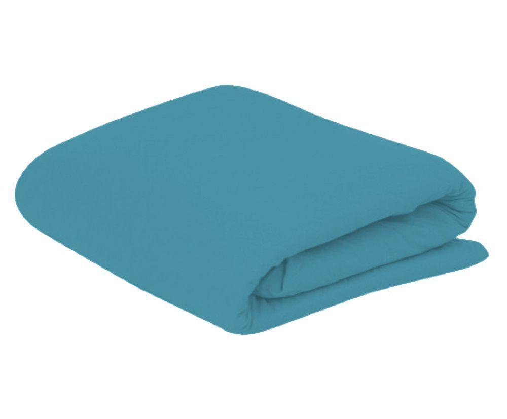 Lençol King com Elastico em Malha 100% Algodão Avulso - Azul
