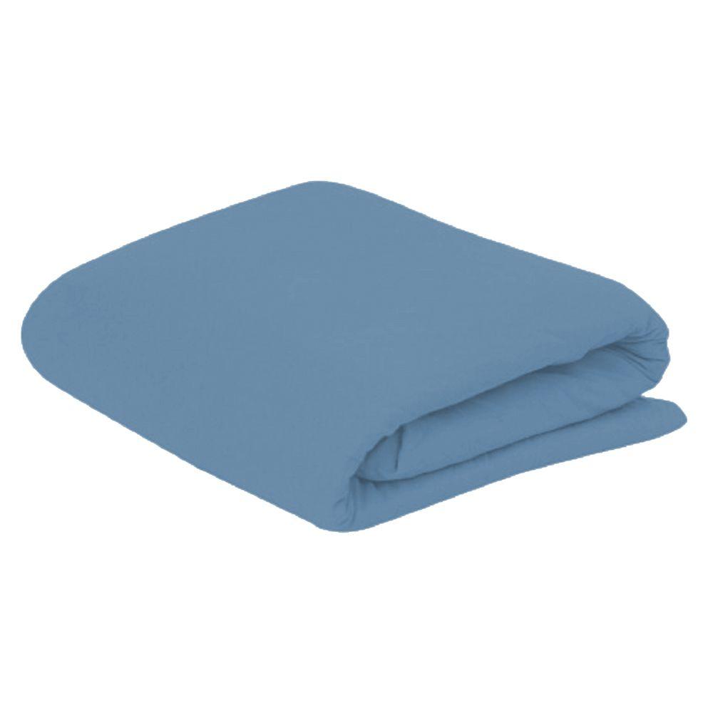 Lençol Solteiro com Elastico em Malha 100% Algodão Avulso - Azul