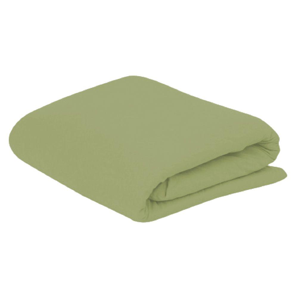 Lençol Solteiro com Elastico em Malha 100% Algodão Avulso - Verde Cedro