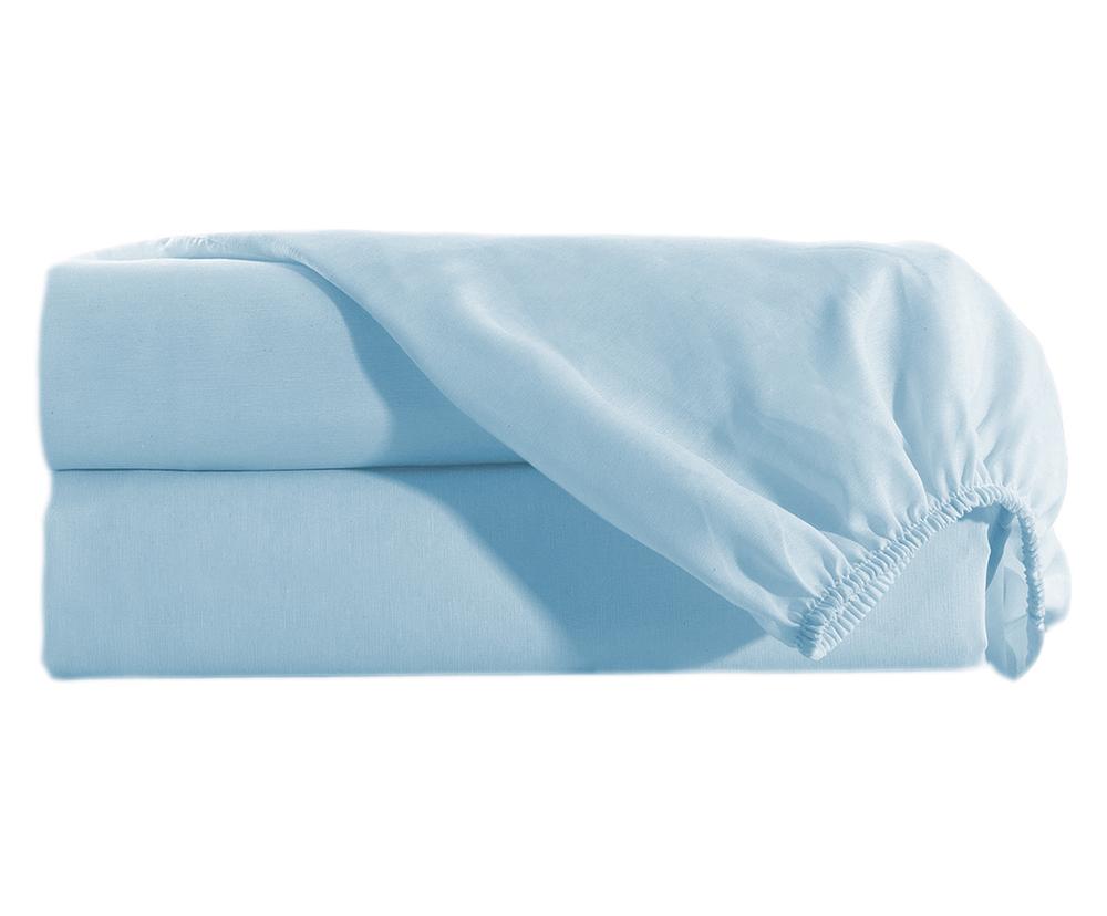 Lençol Solteiro com Elastico Percal 150 fios 100% Algodão Avulso - Azul