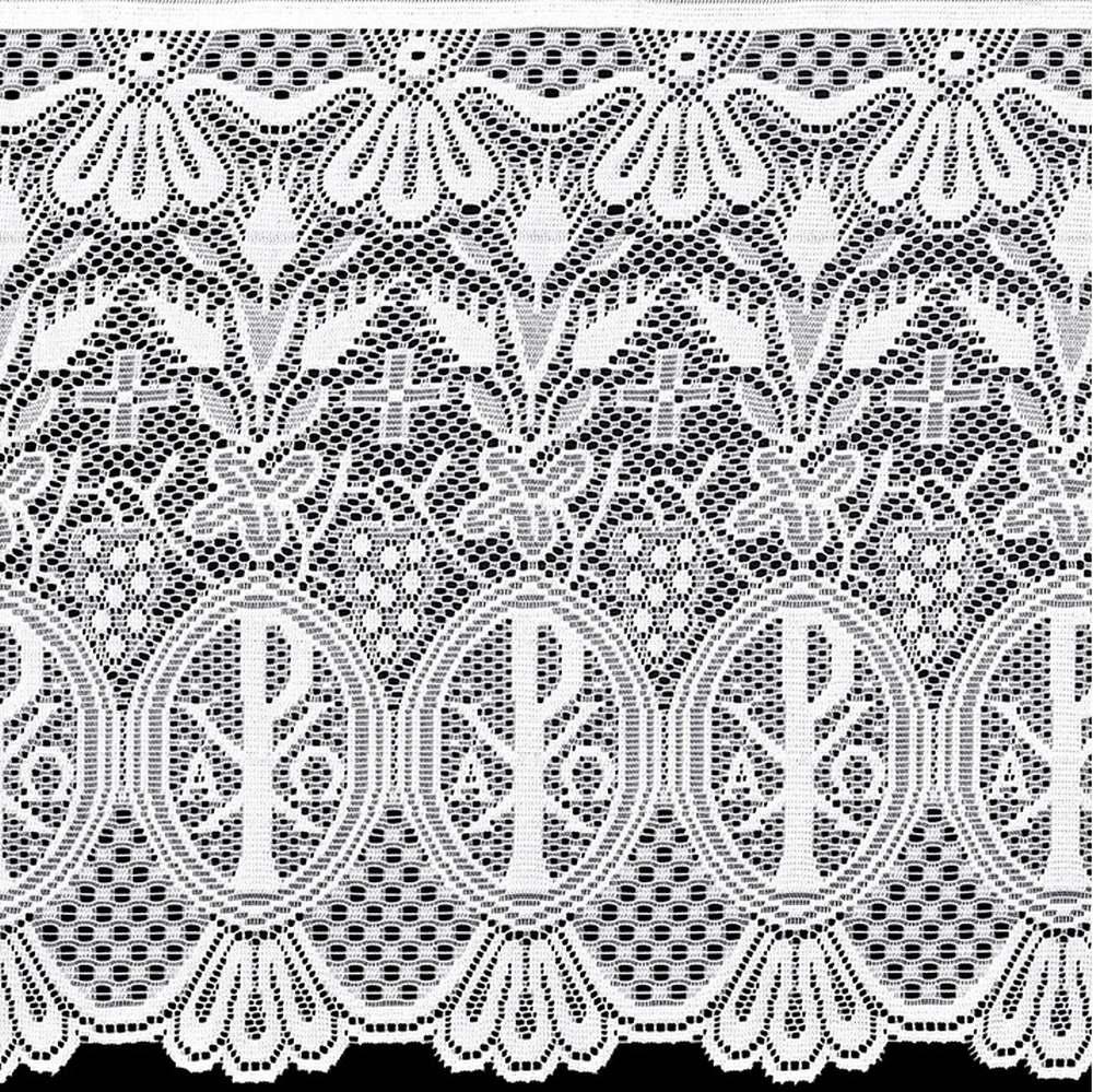 Renda Litúrgica Alpha e Omega Tamanho Variado x 60 cm de largura  (16260) - Confira Tamanhos!