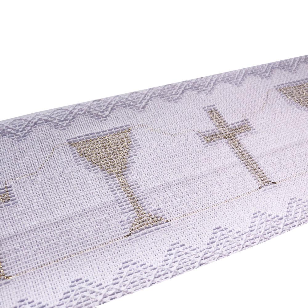 Renda Litúrgica Cálice Ouro 10 m x 9,80 cm Largura - (9727)