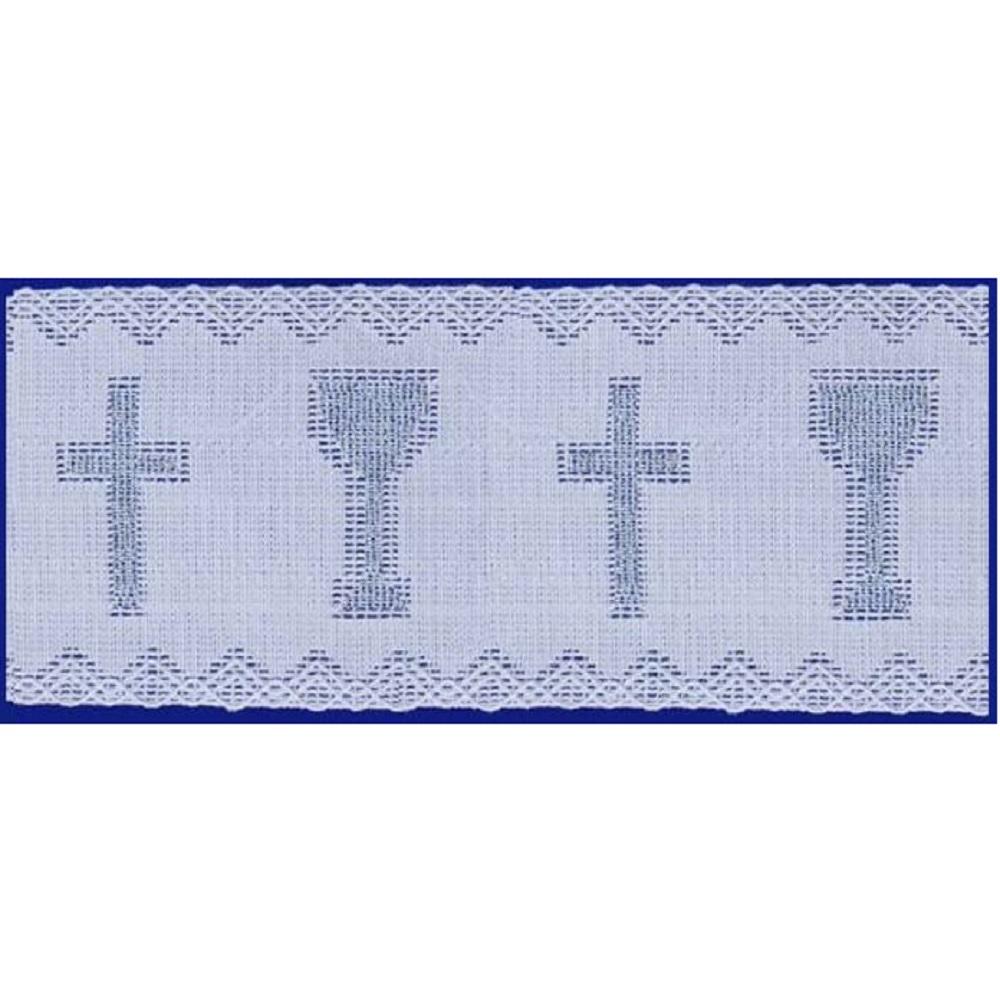 Renda Litúrgica Cálice Prata 10 m x 9,80 cm Largura - (9727)