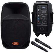 """Caixa de Som DONNER Bateria 12V Ativa 12"""" 160W DR12 BAT com Microfone Sem Fio"""