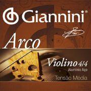 Corda Avulsa para Violino 3ª Ré (D) GIANNINI GEAVVA3