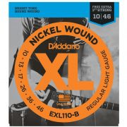 Encordoamento DADDARIO Guitarra 010 EXL110-B Regular Light