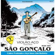 Encordoamento SÃO GONÇALO Violão Aço 011 Prata IZ0125
