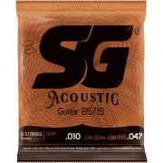 Encordoamento SG Violão Aço Bronze 010 SG6685