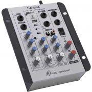 Mesa de Som LL AUDIO NANOMIX 2 Canais NA302R Bluetooth