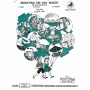 Método Partitura Piano - SONATINA EM SOL G MAIOR - TRÊS MOVIMENTOS - Hazel Cobb