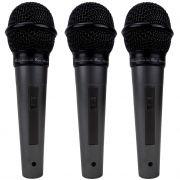 Microfone KADOSH Com Fio KDS-300 ( Kit com 3  )