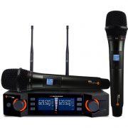 Microfone KADOSH Sem Fio Duplo de Mão UHF Digital K-492 M