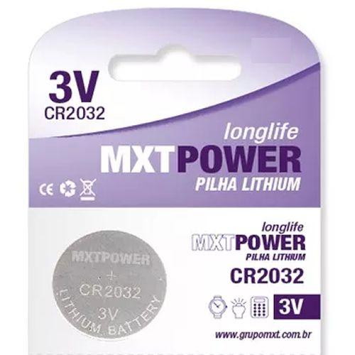 Bateria 3V MXT Power CR2032 (unitário)