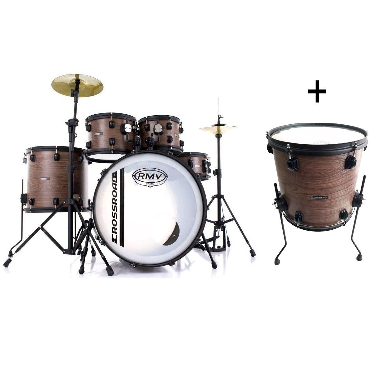 Bateria Acústica RMV Cross FULL 7 tambores 2 surdos e 3 tons 22/08/10/12/14/16 PBCF22402