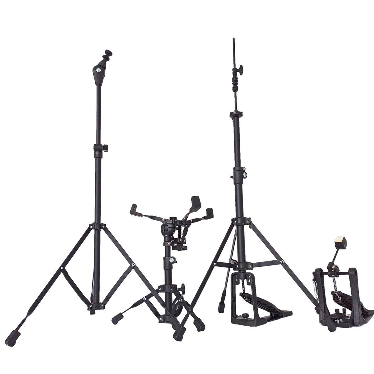 Bateria Acústica RMV Crossroad Scorpion ASPIRE 2 toms 20,10,12,14 cx 14 c/Pratos PBSA20035 Prata