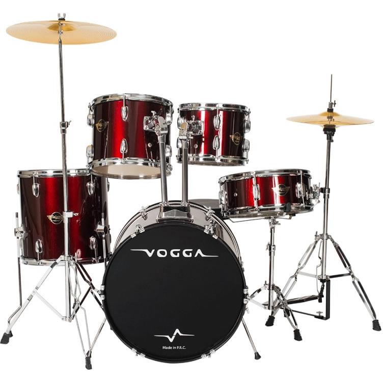 Bateria Acústica VOGGA 22,16,13,12 cx 14  VPD922 WR Vinho