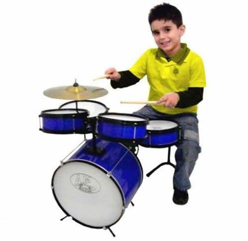 Bateria Infantil ROCK BABY Acústica 2 Tons AM AZUL