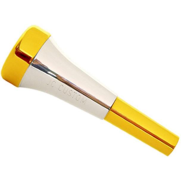 Bocal Trompete JC CUSTOM RESONANCE B4LD BALD MONETTE 10/2 Dourado e Prata