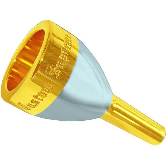 Bocal Tuba JC CUSTOM SUPREME 34 34mm Dourado e Prata
