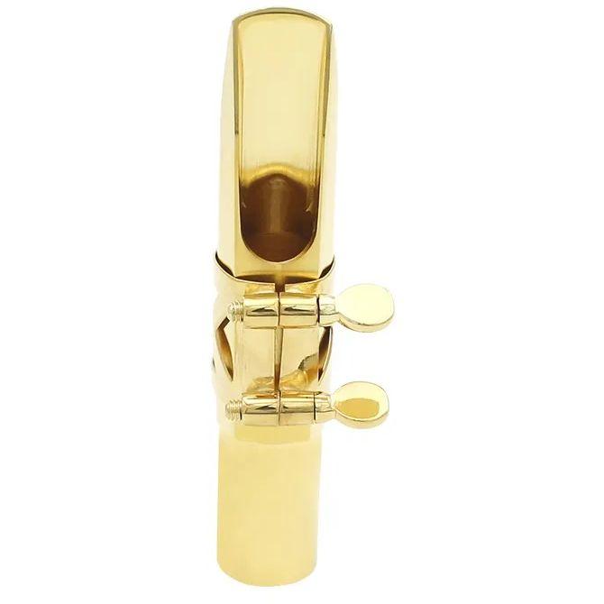 Boquilha SC Metal Saxofone Alto JAZZ GOLD 7 Dourado