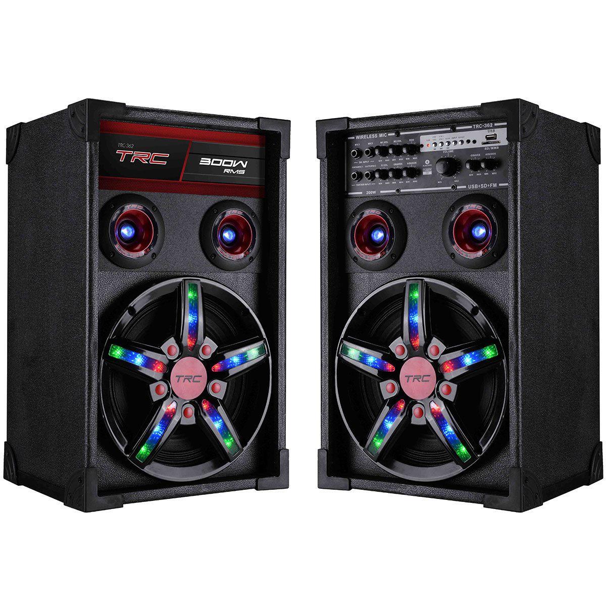 Caixa de Som TRC Amplificada 300W TRC 362 Bluetooth