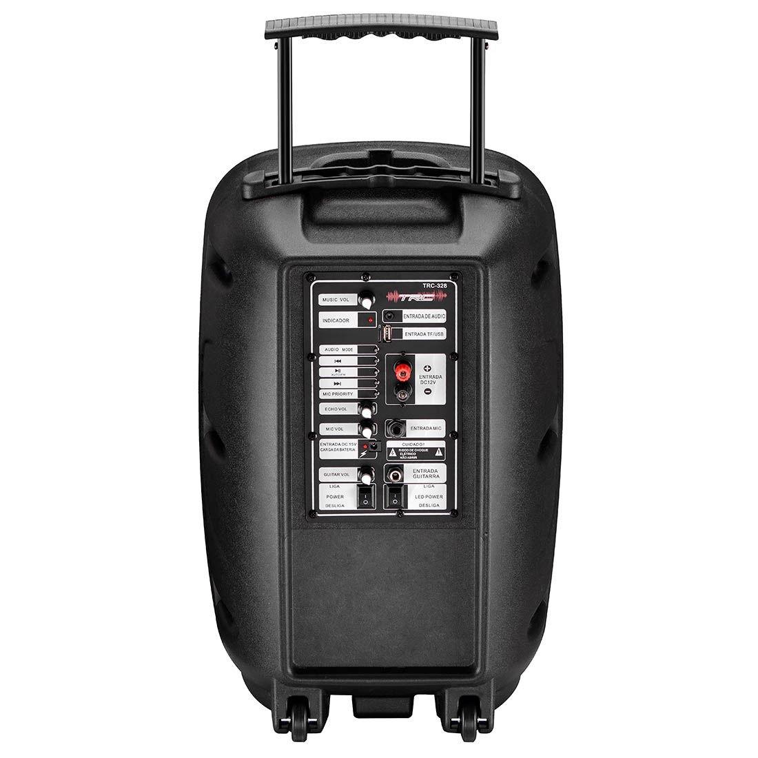 """Caixa de Som TRC Ativa 12"""" 100W TRC 328 Microfone com fio"""
