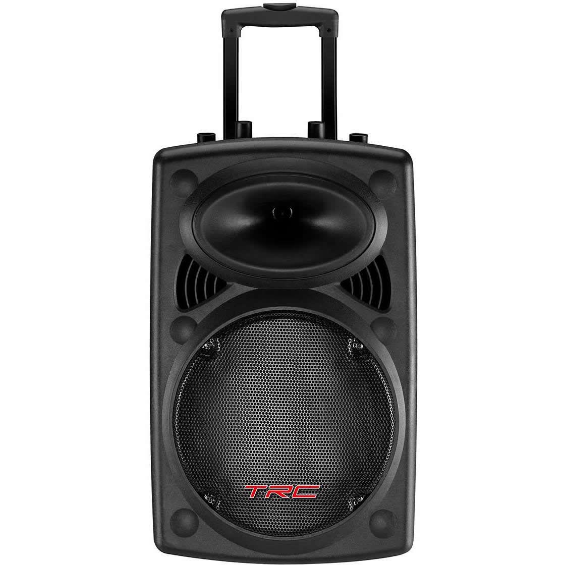 """Caixa de Som TRC Ativa 12"""" 350W TRC 358N 1 Microfone com Fio e 1 Sem fio"""