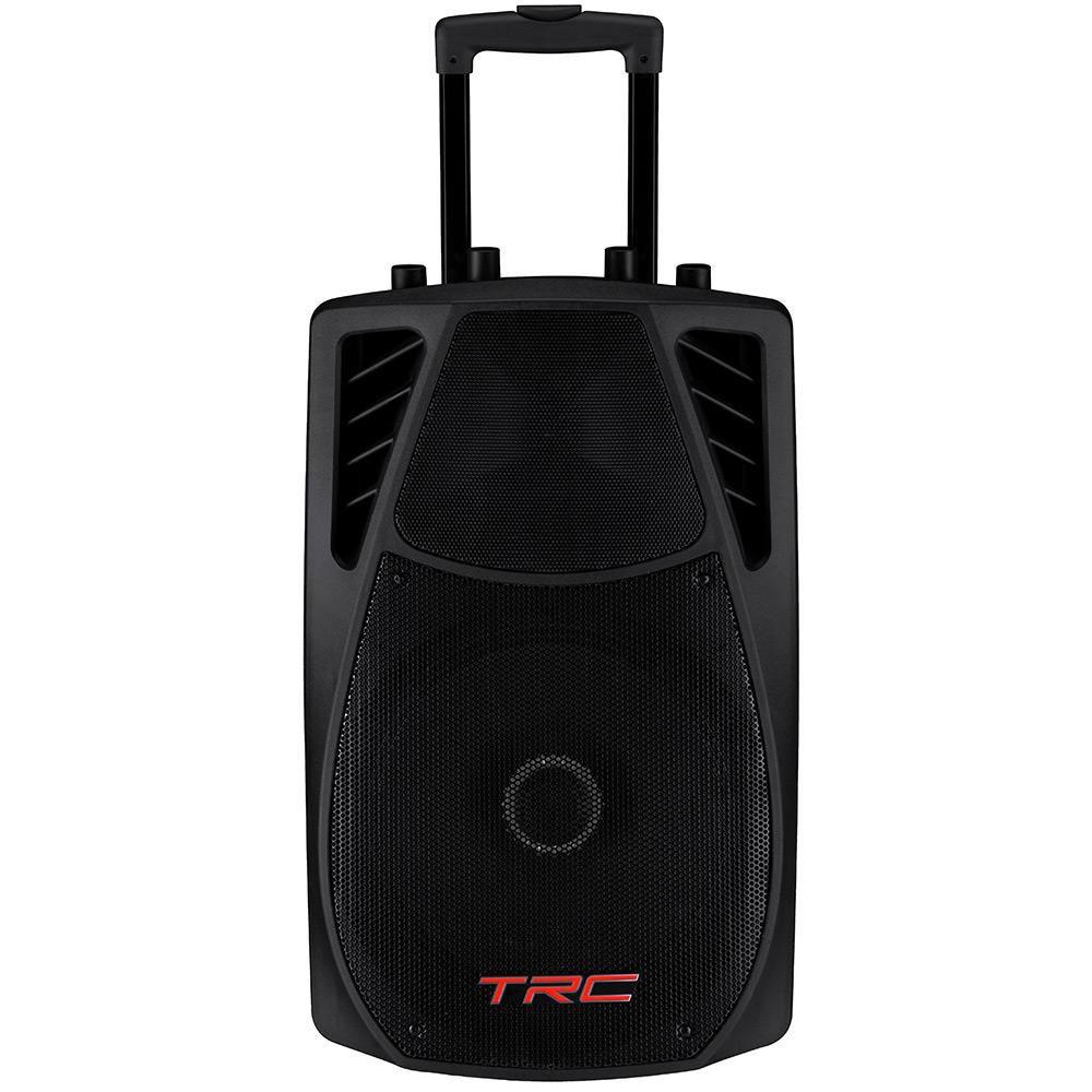 """Caixa de Som TRC Ativa 12"""" 360W TRC 359 1 Microfone com fio e 1 sem fio"""