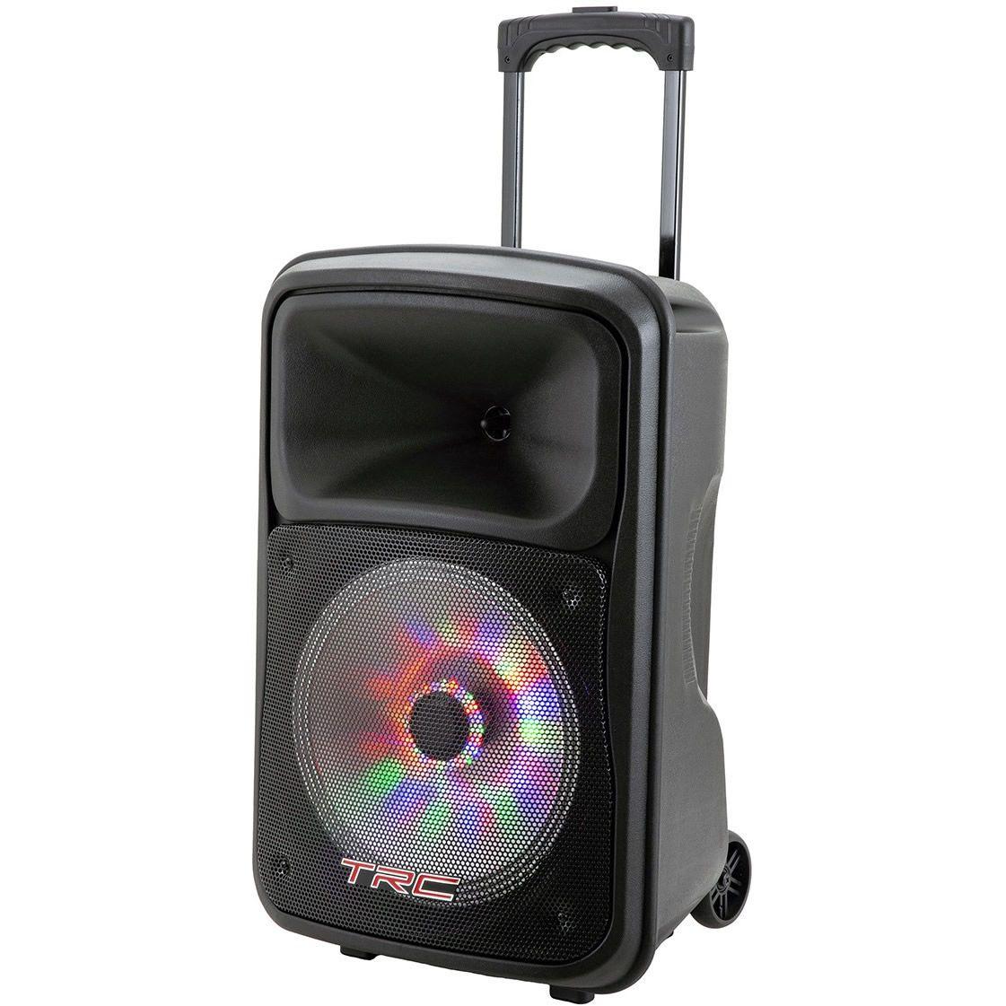 """Caixa de Som TRC Ativa 12"""" 480W TRC 536 Microfone com fio"""