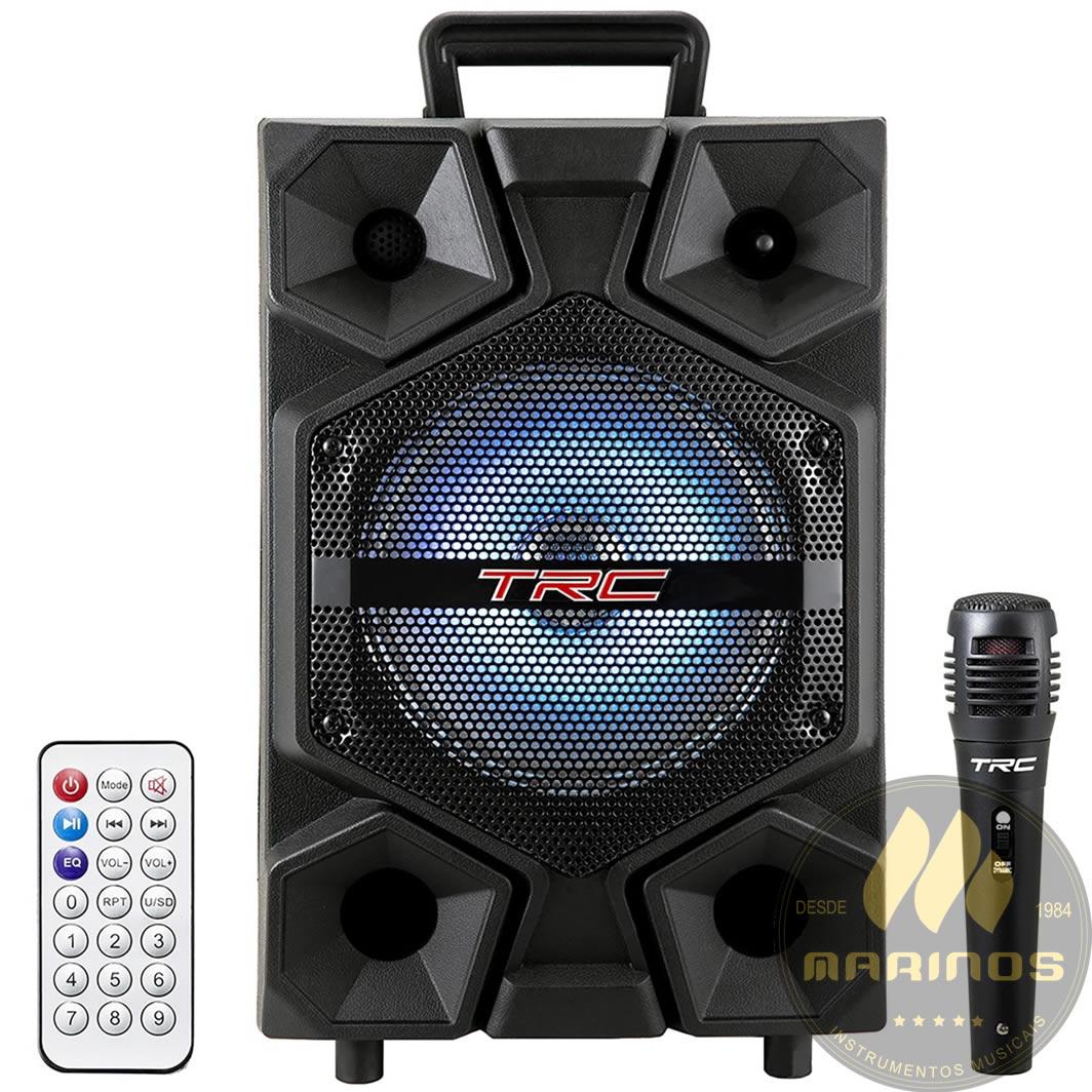 Caixa de Som TRC Ativa 150W TRC 512 Microfone Com Fio