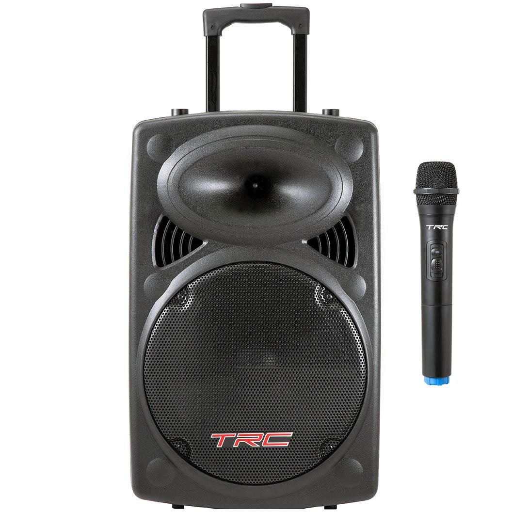 Caixa de Som TRC Ativa 350W TRC 436 Microfone Sem Fio