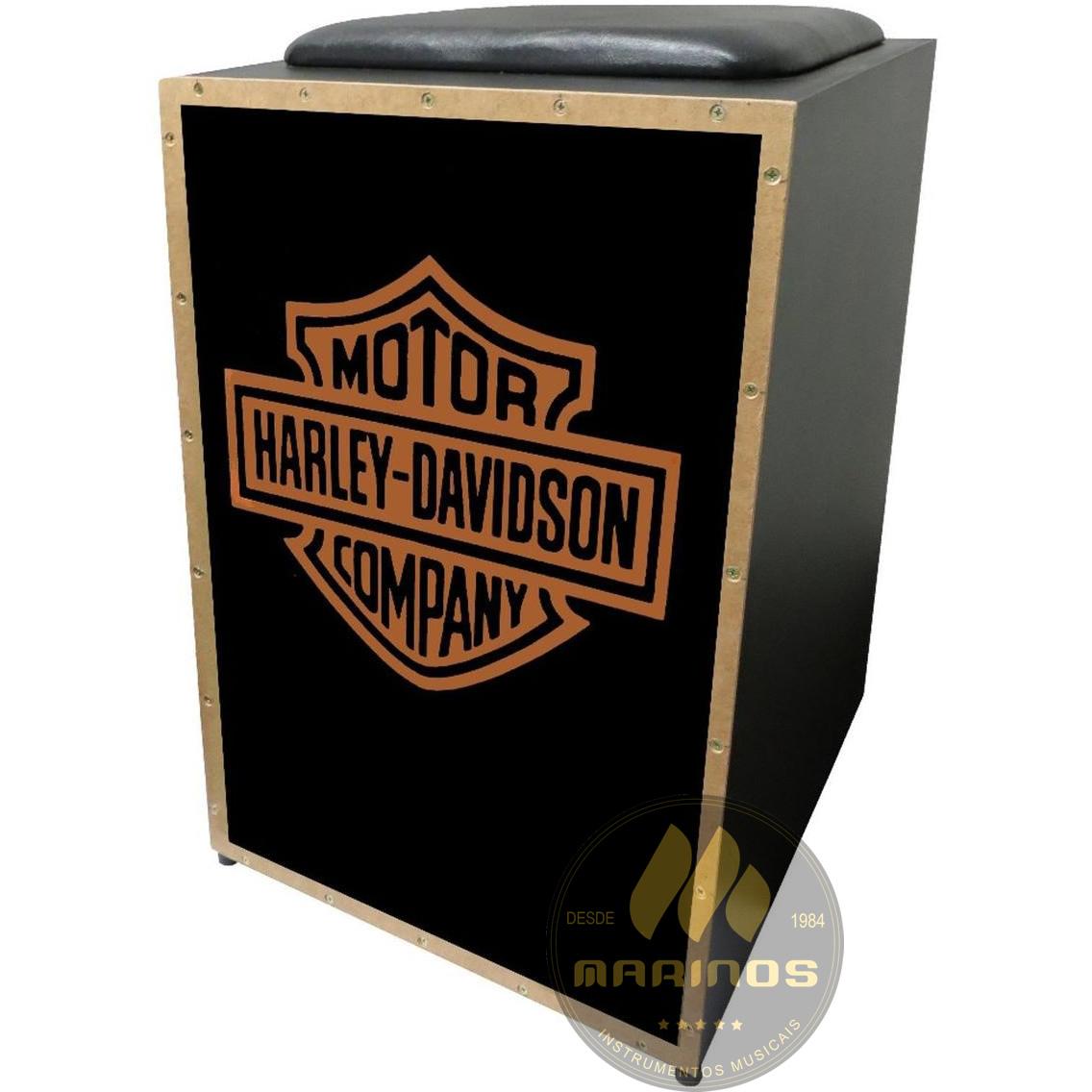 Cajon JAGUAR Elétrico CJ1000 K2 COR 007 EQ Harley-Davidson Preto