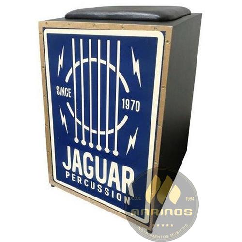 Cajon JAGUAR Elétrico CJ1000 K2 COR 021 EQ Cordas Violão Azul