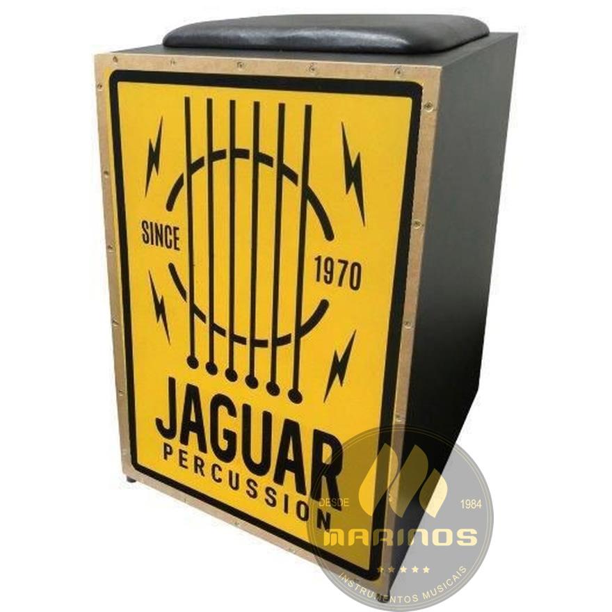 Cajon JAGUAR Elétrico CJ1000 K2 COR 022 EQ Cordas Violão Amarelo