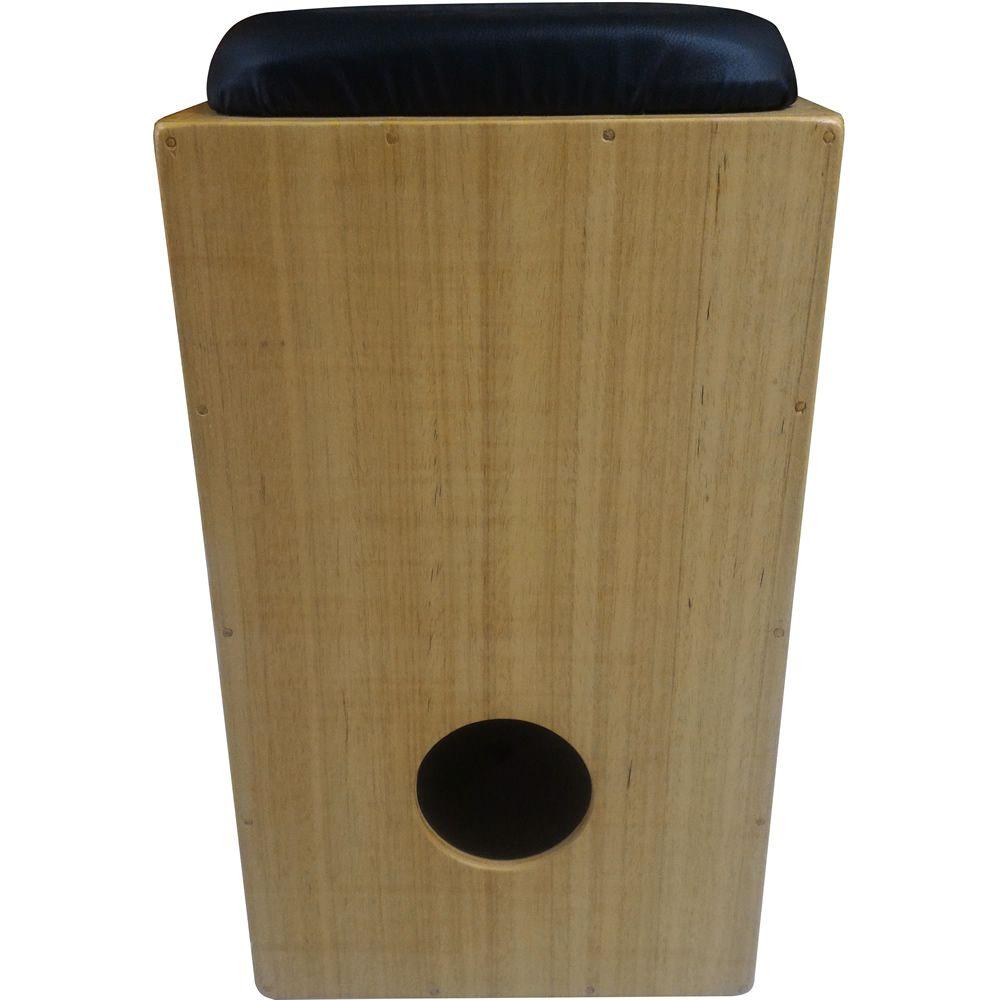 Cajon OLIVER Acústico Reto Regulagem de Esteira COMFORT Natural + Vassourinha
