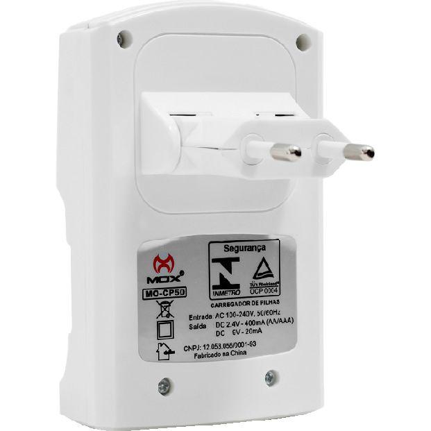 Carregador MOX Pilha Bateria MO-CP50