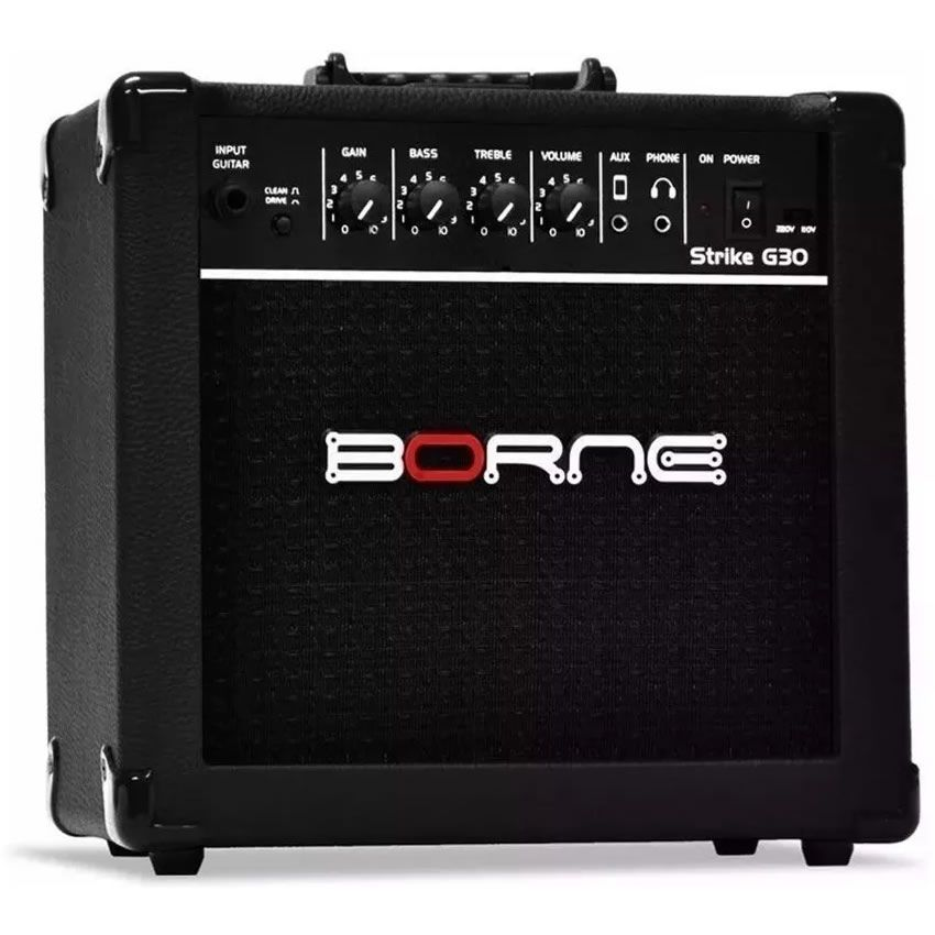Combo BORNE Guitarra STRIKE G30 15W Preto