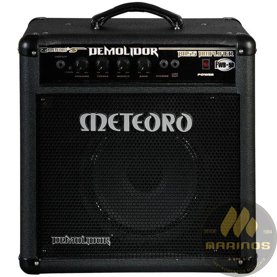 Combo METEORO Contrabaixo 50W DEMOLIDOR FWB50